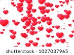 red and pink heart. valentine's ... | Shutterstock . vector #1027037965