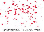 red and pink heart. valentine's ... | Shutterstock . vector #1027037986