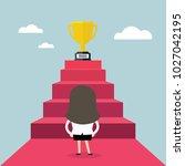 businesswoman standing in front ...   Shutterstock .eps vector #1027042195