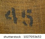 closeup of stamped number forty ... | Shutterstock . vector #1027053652
