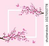 vector illustration of cherry... | Shutterstock .eps vector #1027053778