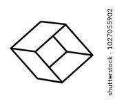 3d cube vector icon vector