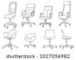 modern office chair | Shutterstock .eps vector #1027056982