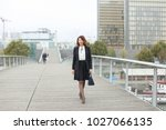 journalist  woman in business... | Shutterstock . vector #1027066135