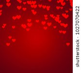 valentine day background red... | Shutterstock . vector #1027070422