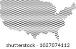 usa dot map. vector illustration | Shutterstock .eps vector #1027074112