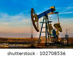 oil pump. oil industry... | Shutterstock . vector #102708536