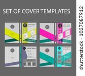 set of cover templates | Shutterstock .eps vector #1027087912