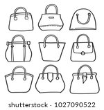 set of handbag doodle | Shutterstock .eps vector #1027090522