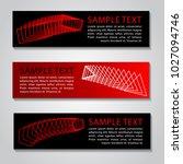 red black color banner for... | Shutterstock .eps vector #1027094746