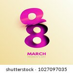 8 march sale flyer.... | Shutterstock .eps vector #1027097035