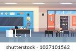 class room interior school... | Shutterstock .eps vector #1027101562