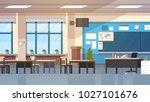 empty school class room... | Shutterstock .eps vector #1027101676