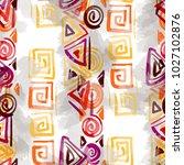 seamless pattern tribal design. ... | Shutterstock . vector #1027102876