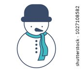 snowman christmas character icon | Shutterstock .eps vector #1027108582