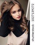fashion photo of beautiful...   Shutterstock . vector #1027139272