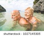 senior couple vacationer having ...   Shutterstock . vector #1027145305
