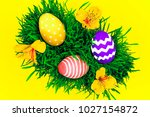 happy easter day. colorful... | Shutterstock . vector #1027154872