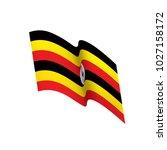 uganda flag  vector... | Shutterstock .eps vector #1027158172