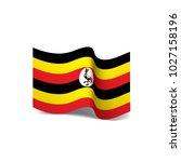 uganda flag  vector... | Shutterstock .eps vector #1027158196