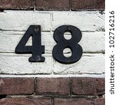 House Number Forty Eight. Blac...