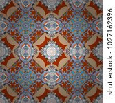 oriental style for fabric.... | Shutterstock .eps vector #1027162396