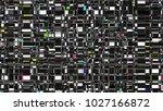 glitch background. computer... | Shutterstock . vector #1027166872