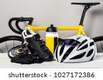 bicycle  cycling accessories | Shutterstock . vector #1027172386