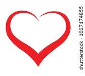 vector heart silhouette | Shutterstock .eps vector #1027174855