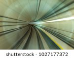 lightrail with slow motion. | Shutterstock . vector #1027177372