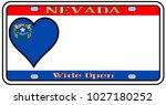 nevadastate license plate in... | Shutterstock . vector #1027180252