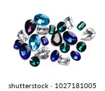 precious jewels on white... | Shutterstock . vector #1027181005