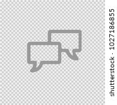 two speech bubbles vector icon... | Shutterstock .eps vector #1027186855