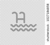 pool ladder vector icon eps 10. ... | Shutterstock .eps vector #1027186858