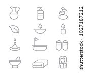 spa icons with white background | Shutterstock .eps vector #1027187212