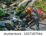 photographer asian women... | Shutterstock . vector #1027187566