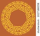 ethnic round frame  logo... | Shutterstock .eps vector #1027188358