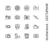 camera flat icon set. single... | Shutterstock .eps vector #1027189648