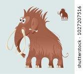 cute prehistoric mammoth. ice... | Shutterstock .eps vector #1027207516