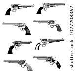 western revolvers wallpaper... | Shutterstock .eps vector #1027208362