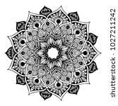 mandalas for coloring book.... | Shutterstock .eps vector #1027211242