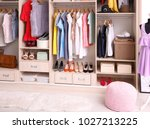 interior of dressing room with... | Shutterstock . vector #1027213225
