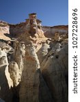white hoodoos  chimney rock ... | Shutterstock . vector #1027228696