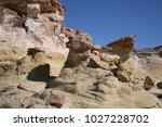 white hoodoos  chimney rock ... | Shutterstock . vector #1027228702