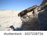 white hoodoos  chimney rock ... | Shutterstock . vector #1027228726