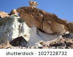 white hoodoos  chimney rock ... | Shutterstock . vector #1027228732