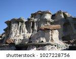 white hoodoos  chimney rock ... | Shutterstock . vector #1027228756