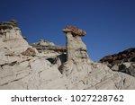 white hoodoos  chimney rock ... | Shutterstock . vector #1027228762