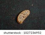 one slice freshly baked... | Shutterstock . vector #1027236952