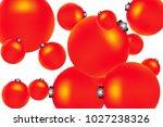 colored christmas balls pattern.... | Shutterstock .eps vector #1027238326